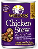 Wellness Thick & Chunky Grain Free Chicken Stew Natural Wet Canned Dog Food, 12.5-Ounce Can (Pack of 12)