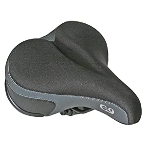 Cloud-9 Comfort Gel Saddle Ladies', 10 x 8, Tri-Color Lycra