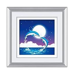 5D Magic Cube Diamond Painting Round Diamond Dolphin Diamond Stitch Cross Stitch Lovers Bedroom Diamond Paste