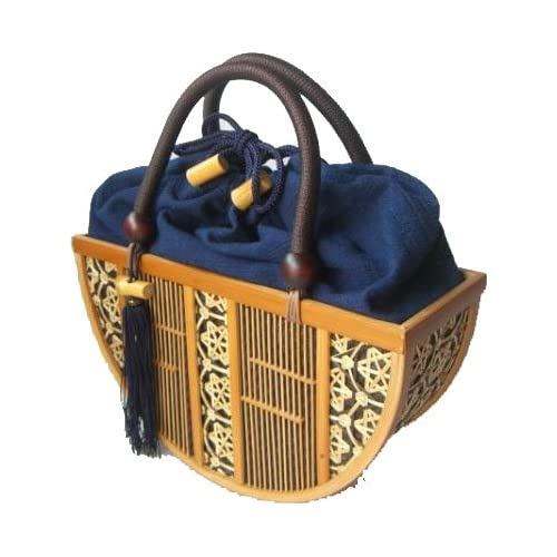 Amazon.com: Shizuoka Bamboo Crafts Cooperative - Bamboo Handbag Hangetsu (Half-moon) - Made in Japan: Clothing