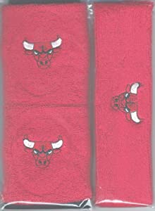 Chicago Bulls Headband Wristband Combination Set with NBA Basketball Sports Team... by For Bare Feet
