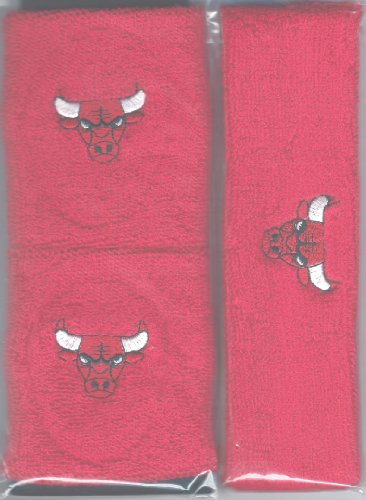 Chicago Bulls Headband Wristband Combination Set with NBA Basketball Sports Team Logos at Amazon.com