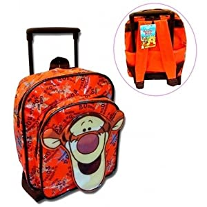 Winnie The Pooh Tigger Mini Travel Wheeled Bag Trolley Suitcase Luggage Backpack