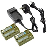 DSTE® 2pcs Replacement Battery + Charger DC19U for Canon BP-511, BP-511A