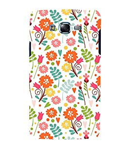 printtech Floral Designer Pattern Back Case Cover for Samsung Galaxy E7 / Samsung Galaxy E7 E700F