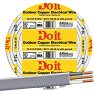 Southwire 13055919 Do it Underground Feeder Cable-100' 12-2 UFW/G WIRE