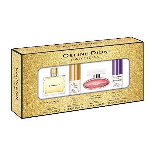 Celine Dion 4 Piece Coffrett Gift Set (Signature Plus Pure Brilliance Plus Sensational Plus Parfums) by Celine Dion