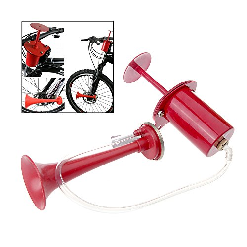 1Pc Ultra Loud Plastic and Iron Cycling Bike Bicycle Air Horn Pump Bell Ring 120db Red (Profile Push Stem compare prices)