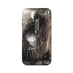 Mobicture Skull Abstract Premium Printed Case For Moto X Force