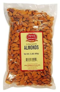 Spicy World Almonds Whole 2-pound Pouches Pack Of 2 by Spicy World