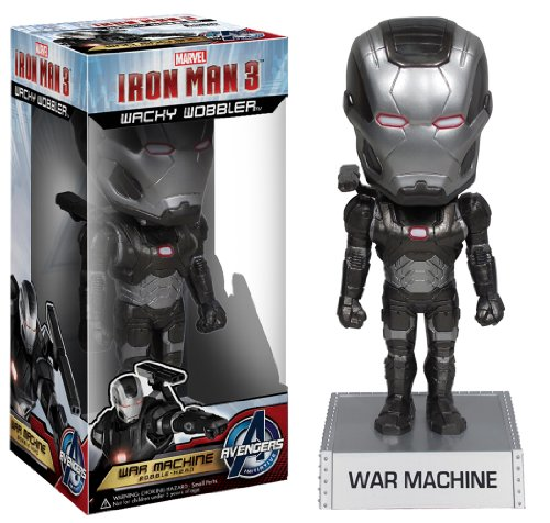 Funko Marvel Iron Man Movie 3: War Machine Wacky Wobbler - 1