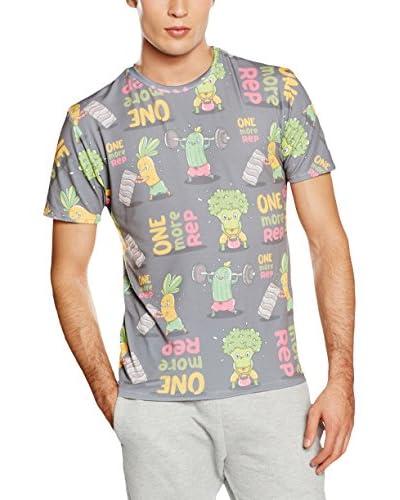 Mr. Gugu & Miss Go T-Shirt Unisex Vegetables Power grau/mehrfarbig