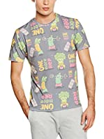 Mr. Gugu & Miss Go Camiseta Manga Corta Unisex Vegetables Power (Gris / Multicolor)