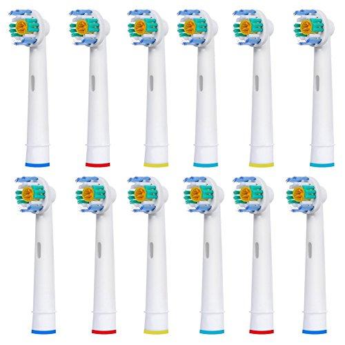 FantasyDay 12 stk Aufsteckbürsten Kompatibel für Braun Oral-B Zahnbürsten - Modell EB18-A - Kompatibel mit allen Oral B ElektrischeZahnbürste ( außer Sonic / Pulsonic )