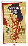 echange, troc Jacques Godechot, Hervé Faupin - Les Constitutions de la France depuis 1789