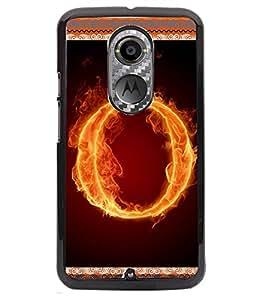 Fuson 2D Printed Aphabet O Designer back case cover for Motorola Moto X2 - D4205