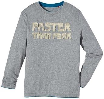 ESPRIT Sweatshirt  Col ras du cou Manches longues Garçon - Gris - Grau (086 STONE GREY MEL) - FR : 8 ans (Taille fabricant : 128/134)