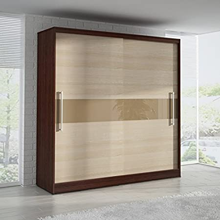 SLIDING DOOR WARDROBE 6 ft 8 inch (204cm) 'ASH'