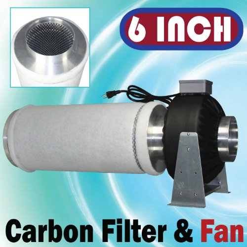 Cheap 6″ Inline Fan Carbon Filter Combo Odor Control Scrubber (B004DFGXTK)