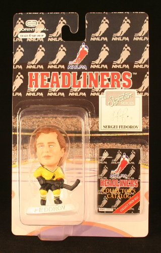 SERGEI FEDOROV / NHLPA SIGNATURE SERIES * 3 INCH * 1996 NHL Headliners Hockey Collector Figure