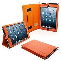 Snugg Leather Case with Flip Stand for Apple iPad Mini/Mini 2 (Orange)