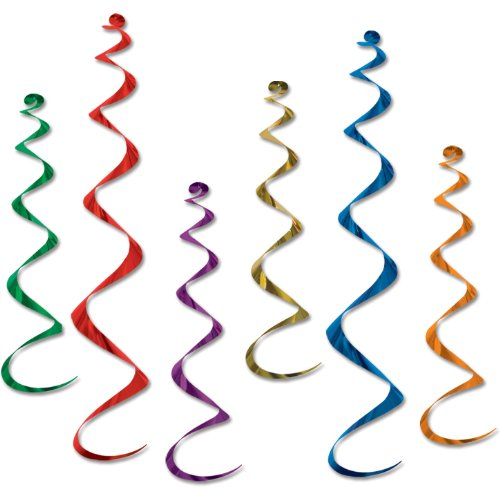 Beistle Company - Metallic Whirls Assorted