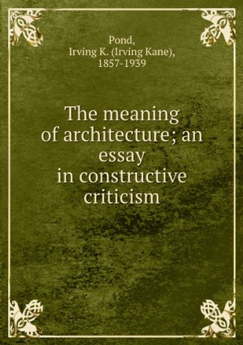 deconstructing the kimbell an essay on meaning and architecture In regards to difference, michael benedikt mentions the term in his book deconstructing the kimbell: an essay on meaning when he outlines philosophical grounds for absence in the kimbell.