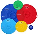 Homeway Essentials Silicone Suction Lids - 5 Pack Food Cover, Microwave Cover, Bowl Cover