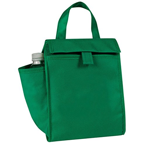 Eunichara eGreen Lunch Bag w/Bottle Pocket 90G Non Woven Polypropylene - Forest Green (Small Cooler For Water compare prices)