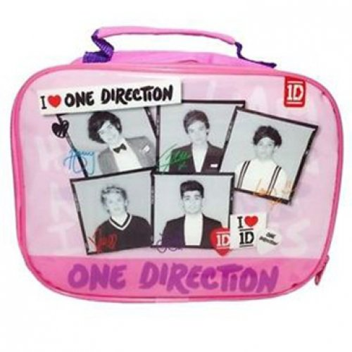 One Direction 'I Love 1D' Pink Rectangle Lunch Bag
