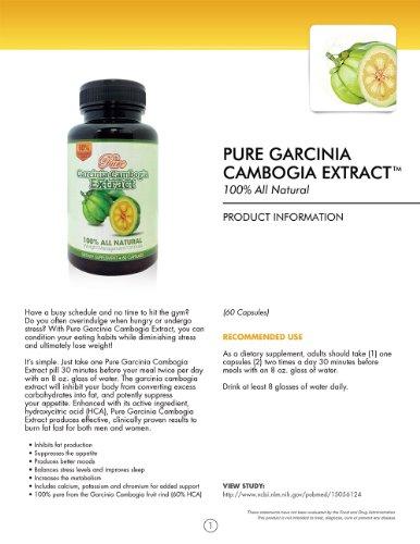 pure garcinia cambogia extract 500 mg
