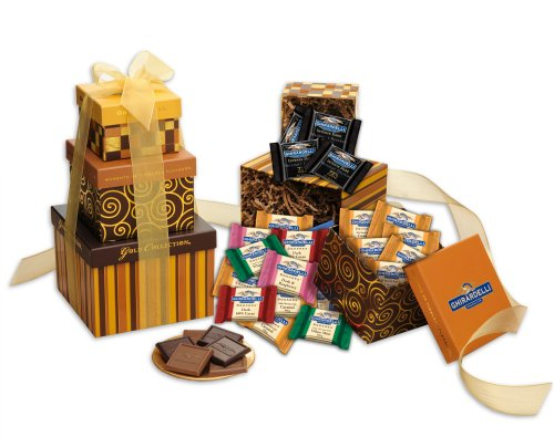 Ghirardelli Tower of Squares, Chocolate, 51 Count