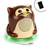 Ultimate Audio Book Speaker Accessory with Studious Owl Design and LED Base by GOgroove - Works With The Maze Runner , Personal , Edge of Eternity , Hello Love and More Audio Books!