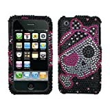 Black Silver Pink Cute Pirate Full Diamond Bling Snap on Design Hard Case Faceplate for Apple Iphone 3g 3gs Reviews