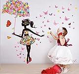 【ELEEJE】 大切な人 へ 気持ち を 伝える ウォールステッカー ( バレンタイン ・ ホワイトデー ・ クリスマス ・ 誕生日 など 様々な シーン の 演出 に 最適 ) 花と蝶