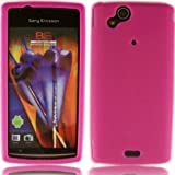 Silicone Case Cover Skin For Sony Ericsson Xperia Arc Arc S X12 / Pink