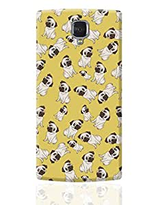 PosterGuy OnePlus 3 Case Cover - Pug Life Pattern | Designed by: Vaibhav Designs