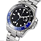 Fanmis GMT Master Sapphire Glass Blue and Black Ceramic Bezel Men's Automatic Wath