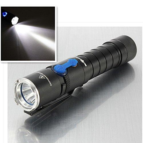 Cree Xm-L T6 1200Lm 3Modes Led Flashlight Black 1X18650