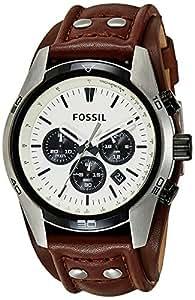 Fossil - CH2890 - Montre Homme - Quartz Chronographe - Chronomètre - Bracelet Cuir Marron