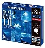 三菱化学メディア Verbatim DVD-R DL 2層式 1回録画用 215分 2-8倍速 5mmケース 5枚パック ワイド印刷対応 ホワイトレーベル VHR21HDSP5