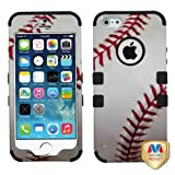 MYBAT Baseball-Sports Collection/Black TUFF Hybrid Phone Protector Cover for APPLE iPhone 5