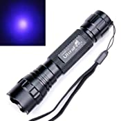 NEW Ultrafire Wf-501b G60 Uv 3w Ultraviolet LED Flashlight Torch - Basic Handheld Flashlights - Amazon.com