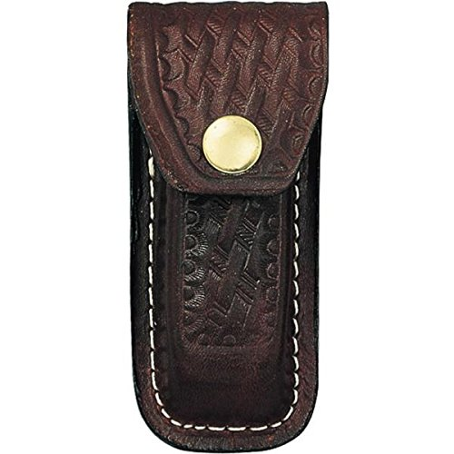 Basketweave Brown Swiss Army Belt Sheath