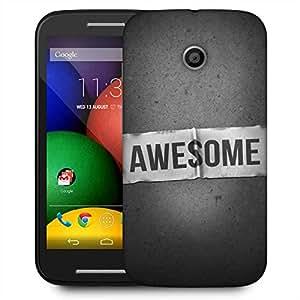 Snoogg Simply Awesome Designer Protective Phone Back Case Cover For Motorola E / Moto E