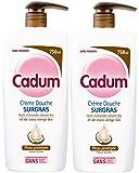 Cadum - Douche - Surgras Coco - Pompe - 750 ml - Lot de 2