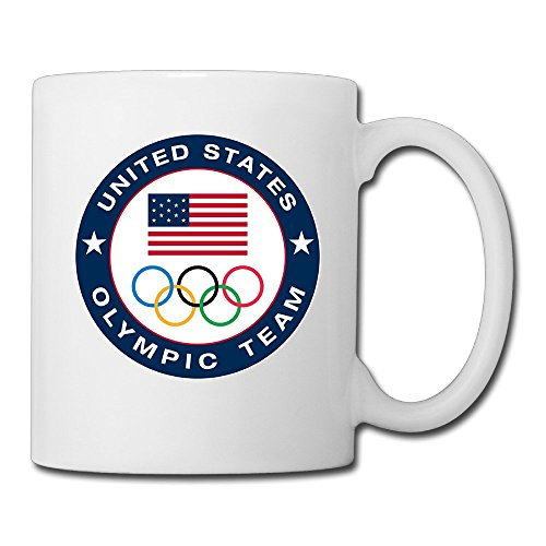 White Olympic Team United States Rio De Janeiro Novelty Coffee Cup
