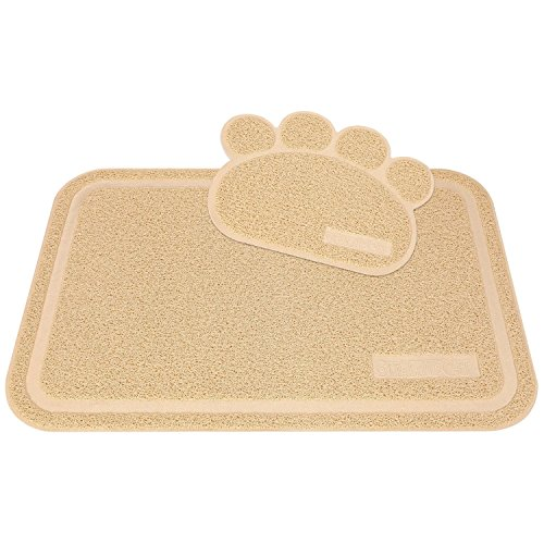Star Pet Cat Litter Catcher Mats(contains 2 mats)-Perfect Beige Mats for Cats and Dogs-XL size(35.5″*24.5″)-Easy clean-Premium and soft Mats for Pets