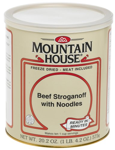 Mountain House #10 Can Beef Stroganoff with Noodles (10 -1 cup servings)