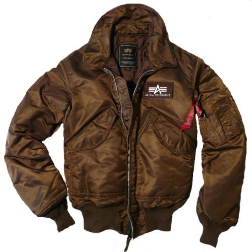 Alpha Industries CWU Pilotenjacke braun: .de: Bekleidung